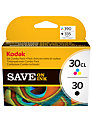 Kodak Ink Catridges, Black/Colour, 30B/30C