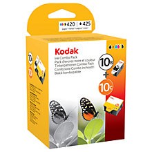 Buy Kodak 10B & 10C Ink Catridges Multipack, Black & Colour Online at johnlewis.com