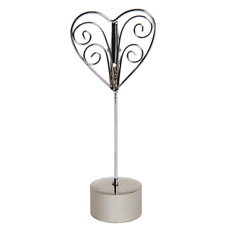 Buy John Lewis Heart Place Card Holder Online at johnlewis.com