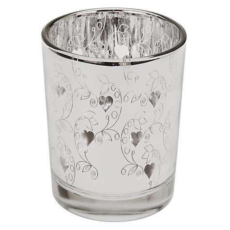 Buy John Lewis Tealight Holder, Mirror Finish Online at johnlewis.com