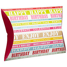 Buy John Lewis Happy Birthday Stripe Pillow Gift Box Online at johnlewis.com