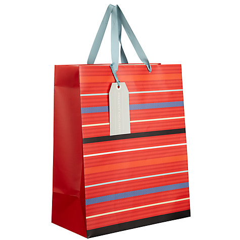 Buy John Lewis Herringbone Stripe Gift Bag, Medium Online at johnlewis.com