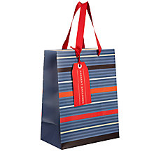 Buy John Lewis Herringbone Stripe Gift Bag, Small Online at johnlewis.com