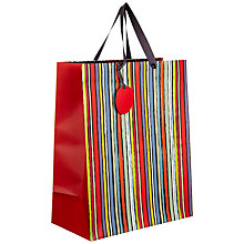 Buy John Lewis Sketch Stripe Gift Bag, Medium Online at johnlewis.com
