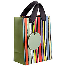 Buy John Lewis Sketch Stripe Gift Bag, Mini Online at johnlewis.com