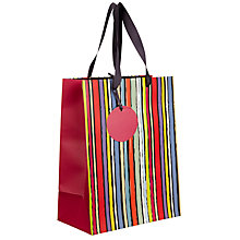 Buy John Lewis Sketch Stripe Gift Bag, Small Online at johnlewis.com