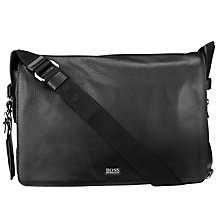 Buy Hugo Boss Basar Messenger Bag, Black Online at johnlewis.com