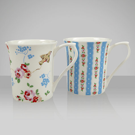 Buy Cath Kidston Bird and Pastel Blue Mugs, Set of 2 Online at johnlewis.com