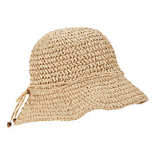 Buy John Lewis Crochet Cloche Hat, Natural Online at johnlewis.com