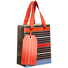 Buy John Lewis Herringbone Stripe Gift Bag, Mini Online at johnlewis.com