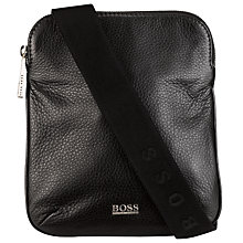 Buy Hugo Boss Bussolo Messenger Bag, Black Online at johnlewis.com