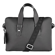Buy Hugo Boss Baptiste Leather Briefcase, Black Online at johnlewis.com
