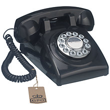 Buy GPO 1970's Retro Push Button Dialling Phone, Black Online at johnlewis.com