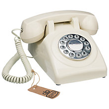 Buy GPO 1970's Retro Push Button Dialling Phone, Ivory Online at johnlewis.com
