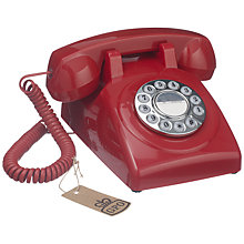 Buy GPO 1970's Retro Push Button Dialling Phone, Red Online at johnlewis.com