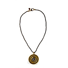 Buy Etrusca Drusy Bead Pyrite Chain and 18ct Gold Plated Bronze Pendant Necklace Online at johnlewis.com