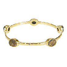 Buy Etrusca Gold Drusy Stone 18ct Hammered Gold Plated Bronze Bangle Online at johnlewis.com