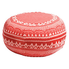 Buy Donna Wilson Frank Zig Zag Pouffe, Red Online at johnlewis.com