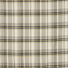 Buy John Lewis Ballater Check Fabric, Mocha / Green Online at johnlewis.com