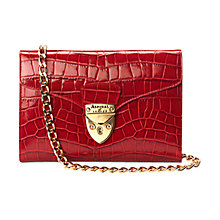 Buy Aspinal Manhattan Clutch Handbag, Red Croc Online at johnlewis.com