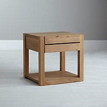 Buy Ethnicraft Azur 1 Drawer Bedside Table Online at johnlewis.com
