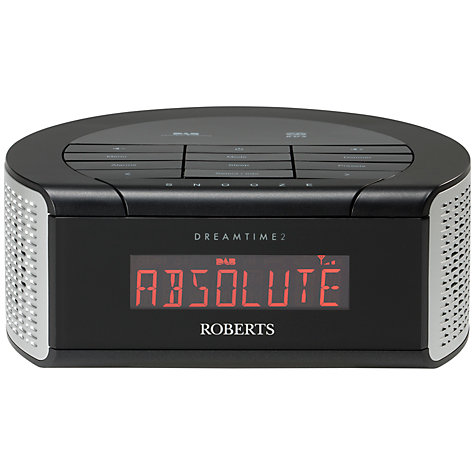 buy roberts dreamtime 2 dab fm digital clock radio john lewis. Black Bedroom Furniture Sets. Home Design Ideas