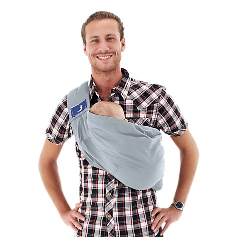 Buy BabaSling Baby Carrier, Dolphin Grey Online at johnlewis.com