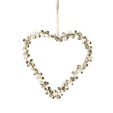 Buy Parlane Bell and Button Hanging Heart, Medium, White Online at johnlewis.com