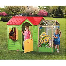 Buy Little Tikes Garden Cottage, Green Online at johnlewis.com