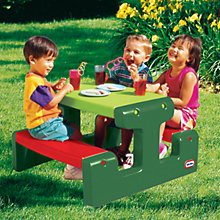 Buy Little Tikes Junior Picnic Table, Evergreen Online at johnlewis.com