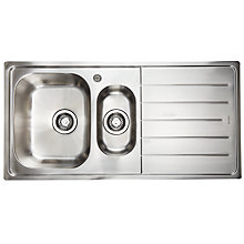 Buy John Lewis Lyon 150 1.5 Sink with Left Hand Bowl, Stainless Steel Online at johnlewis.com