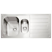 Buy John Lewis 1.5 Sink with Right Hand Bowl, Stainless Steel Online at johnlewis.com