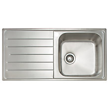 Buy John Lewis 1.0 Sink with Right Hand Bowl, Stainless Steel Online at johnlewis.com
