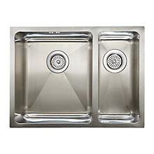 Buy John Lewis 1.5 Inset / Undermounted Sink with Right Hand Small Bowl, Stainless Steel Online at johnlewis.com