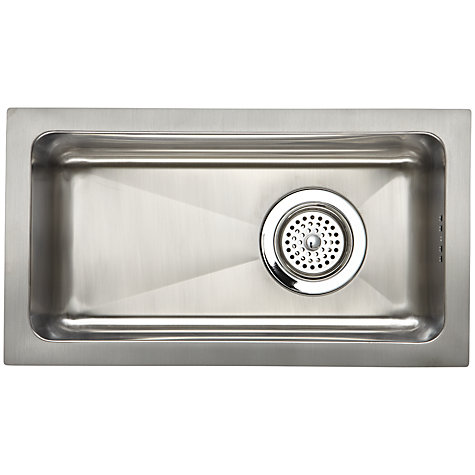 Buy John Lewis Inset / Undermounted Half Bowl Sink, Stainless Steel Online at johnlewis.com