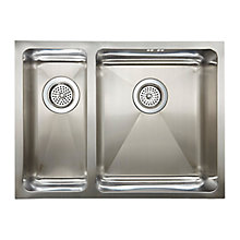 Buy John Lewis 1.5 Inset / Undermounted Sink with Large Left Hand Bowl, Stainless Steel Online at johnlewis.com