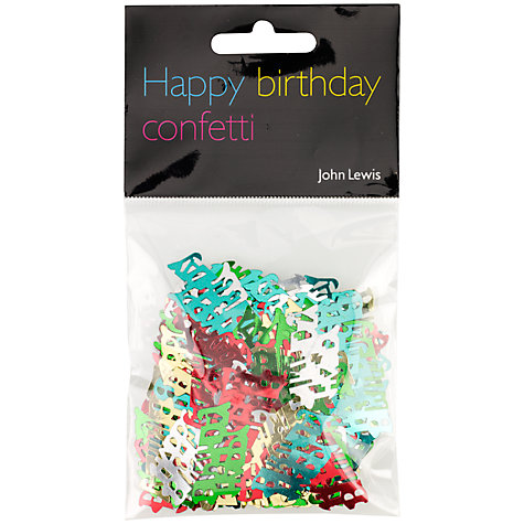 Buy John Lewis Happy Birthday Foil Confetti Online at johnlewis.com