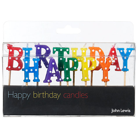Buy John Lewis 'Happy Birthday' Candles Online at johnlewis.com