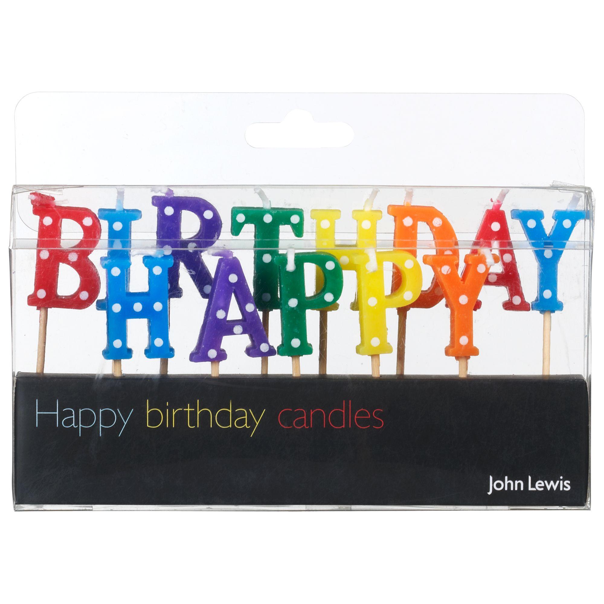 Birthday Cake John Lewis : Buy John Lewis  Happy Birthday  Candles John Lewis