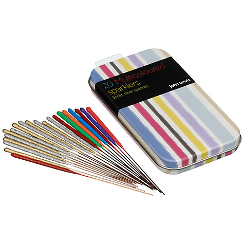 Buy John Lewis Sparklers in a Tin, Pack of 20 Online at johnlewis.com