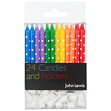 Buy John Lewis Birthday Candles, Multi Colour, Pack Of 24 Online at johnlewis.com