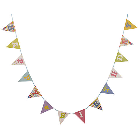 Buy John Lewis Happy Birthday Bunting Online at johnlewis.com