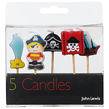 Buy John Lewis Pirate Themed Birthday Candles, Pack Of 5 Online at johnlewis.com
