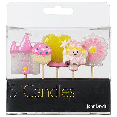 Buy John Lewis Princess Themed Birthday Candles, Pack Of 5 Online at johnlewis.com