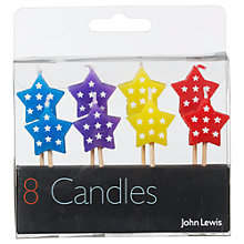 Buy John Lewis Star Birthday Candles, Multi Colour, Pack Of 8 Online at johnlewis.com