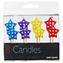 John Lewis Star Birthday Candles, Multi Colour, Pack Of 8