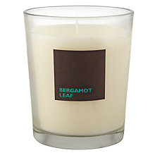 Buy John Lewis Bergamot Leaf Scented Candle In A Box Online at johnlewis.com