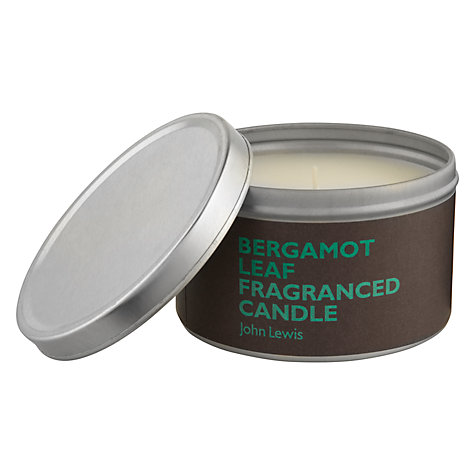 Buy John Lewis Bergamot Leaf Scented Candle In A Tin Online at johnlewis.com