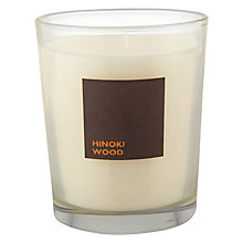 Buy John Lewis Hinoki Wood Scented Candle In A Box Online at johnlewis.com