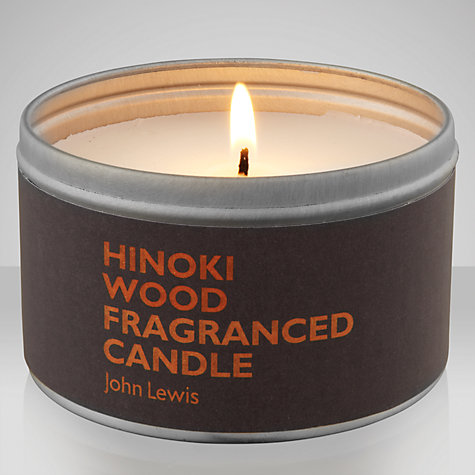 Buy John Lewis Hinoki Wood Scented Candle In A Tin Online at johnlewis.com